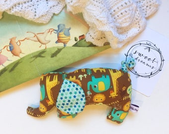 Elephant Toy Retro Brown// Baby Toy// Cloth Toy// Cloth Doll// Baby Softie// Cuddly Toy// Baby Shower Gift// Gift for Toddler//Nursery Decor