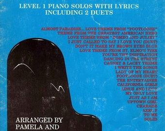 BTS Another 22 Five Finger Favorites Level One Piano Solos with Lyrics by Pamela and Robert Schultz 1985