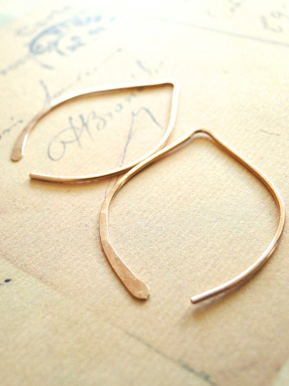Wishbone Earrings - Small Rose Gold-Filled