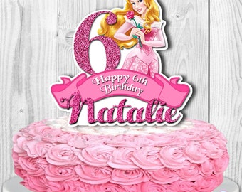 AURORA Cake Topper, Sleeping Beauty Cake Topper, Disney Princess Aurora Centerpiece, PERSONALIZED, Digital File, You Print