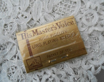 His masters voice needles for the collector made in england