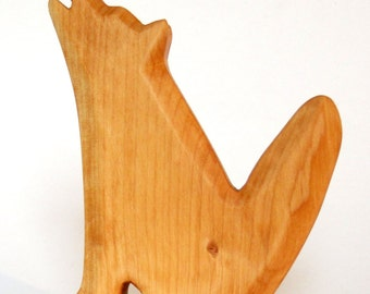 Wolf, wooden animal, natural toys for waldorf education