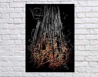 CAMP FIRE, Gold Prints, Instant download, Printable Artwork, Wall Art, Modern Art, Home Art, Poster, Modern Print, Digital Print,Color Print