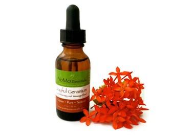 JOYFUL GERANIUM Organic Aromatherapy and Massage Blend Organic Aromatherapy Organic Deodorant Natural Deodorant