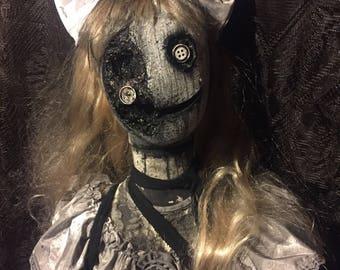 "Creepy Halloween Prop ""Penelope The Doll"""