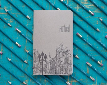 Cityscape letterpress notebook collection