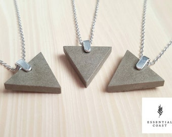 Simple Concrete triangle necklace