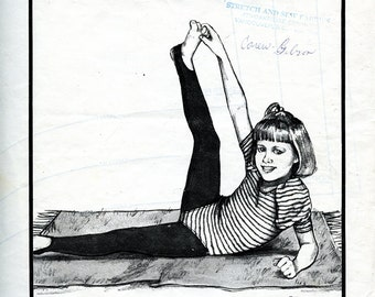 Vintage Stretch & Sew 978 Girls' Dance Tights with Stirrups UNCUT Pattern Sizes 4 to 14