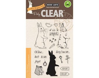 Hero Arts: CM227 Color Layering Rabbit, Clear Stamps, Stamping, 2018 Spring Catalog, Paper Crafting, Scrapbooking, Cardmaking