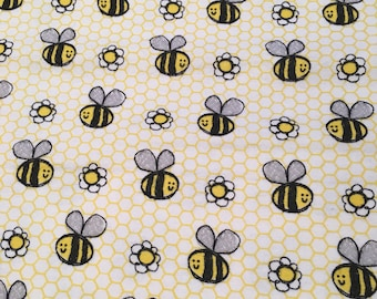 Infant and toddler - Fitted Crib Sheet - Fitted Pack n Play Sheet - Fitted Mini Crib Sheet - Bumble bee sheets