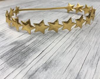 Gold Star Halo Headband // Silver Star Halo Headband // Silver Star Headband //Gold Star Headband // Shooting Star // Star Chain Headband