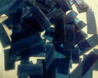 Borders - NAVY MIDNIGHT BLUE Mosaic Stained Glass Spectrum J3