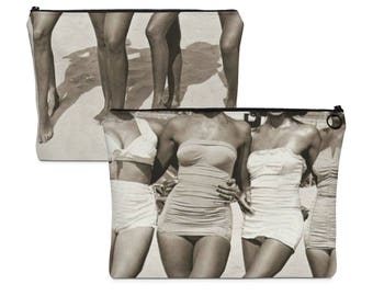Carry All Pouch Designed from Vintage Pin Up Photo