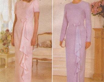 90s Womens Evening Dress Princess Seams Butterick Sewing Pattern 5363 Size 12 14 16 Bust 34 36 38 UnCut Bridesmaid Dress