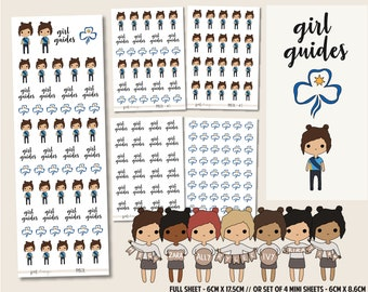 Girl Guide | PMD Girl Stickers | Mini Planner Sticker Sheets - PMD28