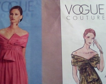 Vogue Couture 2530 Evening Dress Sewing Pattern Size 8,10,12 Bust  31.5, 32.5, 34