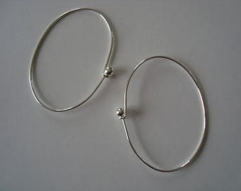 Set of two silver bangles