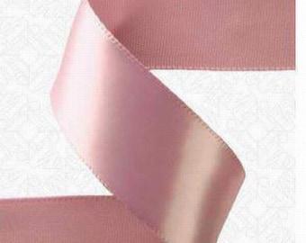 5-8 inch x 100 yds Single Face Satin Ribbon -- ROSY MAUVE