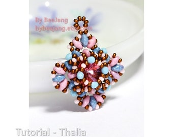 PDF Tutorial - Thalia Pendant Beadweaving Instruction Beading Pattern Instant download