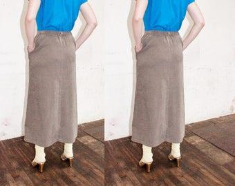 forest green skirt solid color midi swing skirt medium