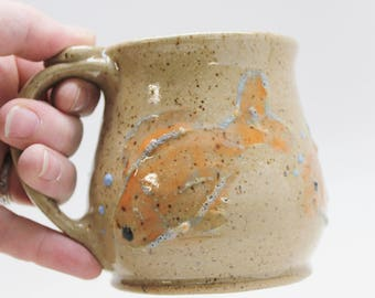 Fish Mug, Ready To Ship, Goldfish Fish Mug