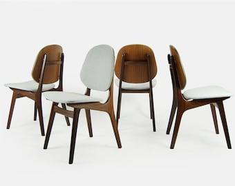Set of 4 Danish Modern Dining Chairs by Arne Hovmand-Olsen
