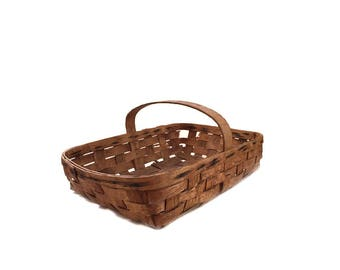Splint Oak Gathering Basket Garden Trug Farmhouse Decor Country Home