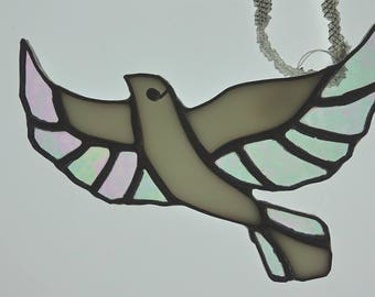 Flying Dove Stained Glass