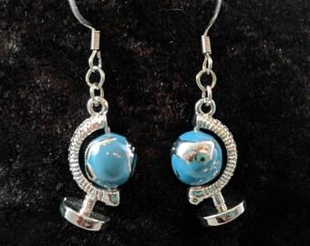 Globe earrings #4
