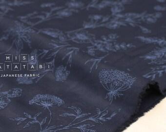 Japanese Fabric Sheer Garden voile - navy blue - 50cm