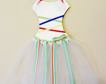 princess dress//bow holder//party time//multi-colored