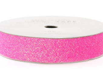 "Glitter Tape Begonia Pink - 5/8"" x 3 yds - 100% Archival"