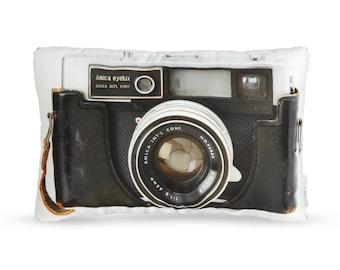 Vintage Amica Eyelux Camera Printed Pillow