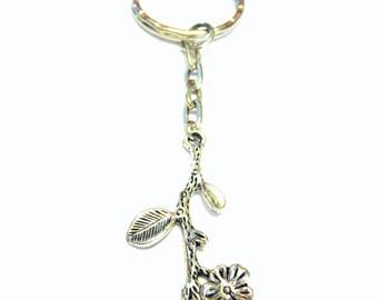 Twig Keychain Cherry Blossom Keychain Flower Keychain Sakura Branch Flower Keychain Gifts For Her Under 10