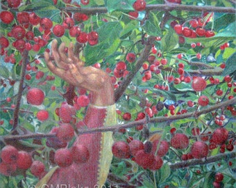 The Cherry Tree Carol - original art