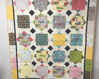 Full size quilt, modern quilt