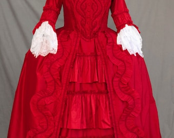 CUSTOM Rococo 18th Century Ruffle Gown
