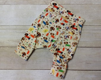 Puppy Harem Pants - Puppies Grow with Me Pants - 0-6 Month Pants - Baby Yoga Pants - Dog Leggings - Dog Pants Trousers