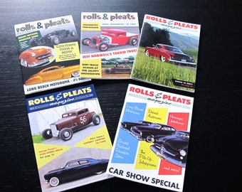 Pack of 20 copies Rolls & Pleats. BRAND NEW! Traditional 1950s Hot Rod magazine. Pick 20 issues of your choice from a list