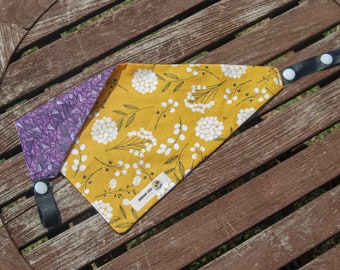 Geometric Daisies double sided cotton bandana