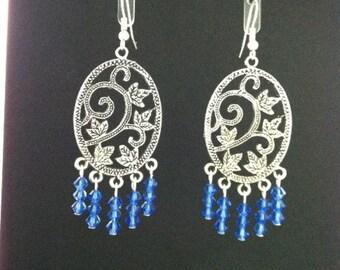 Blue Sapphire Earrings