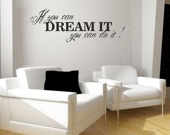 Wall sticker - Dream it... (3597n)