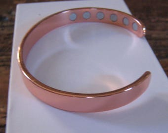 Magnetic Copper Bracelet Therapy Arthritis Healing 12 magnets Men Women Cuff +/- 2000 Gauss!