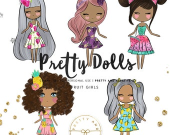 Pretty Dolls Fruits, Fashion Girls, Pretty Girls, Pineapple, Strawberry, Grape, Fruits, Summer, Fresh