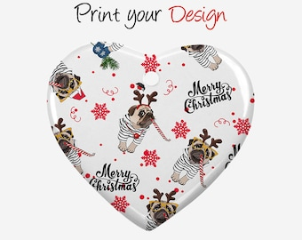 Personalization Ceramic Ornament, Christmas ornaments, Gifts, Sublimation gifts, Personalized custom products Best price H001~H009