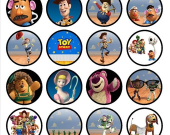 Toy Story Edible Wafer Rice Paper Cake Cupcake Toppers x 24