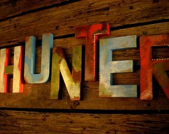 Boy Name Letters - Rustic Wall Letters - Nursery Letters - Vintage Kids Room