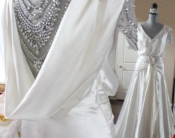 Gatsby Wedding Dress Emulation Silk Victorian wedding dress Aline Wedding Dress Goddess Glamour Dress Vintage Wedding Dress Beaded Gown