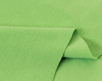 Light Green 1x1 Ribbing and Binding Knit Fabric, by Half Yard 77045
