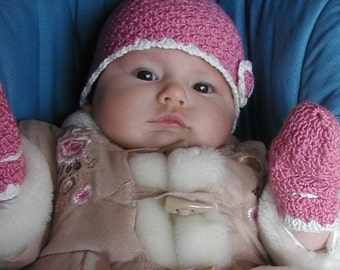 Baby Hat and Mitts More Sizes - PDF Crochet Pattern